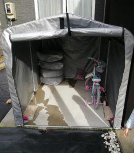 子供乗せ自転車 雨対策