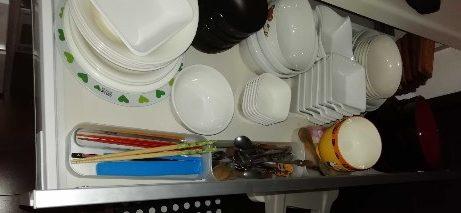 食器は家族の人数分だけにする