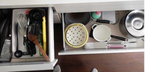 調理器具のキッチン収納